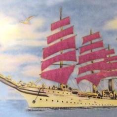 Thuyền buồm no gió