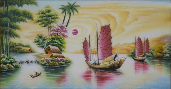 Thuận buồm xuôi gió bức tranh phong thủy tài lộc